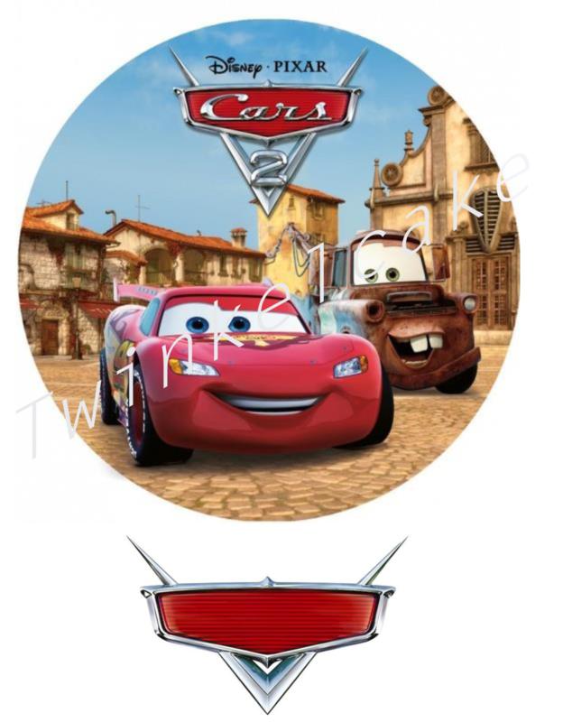 Imprimé comestible Cars 3