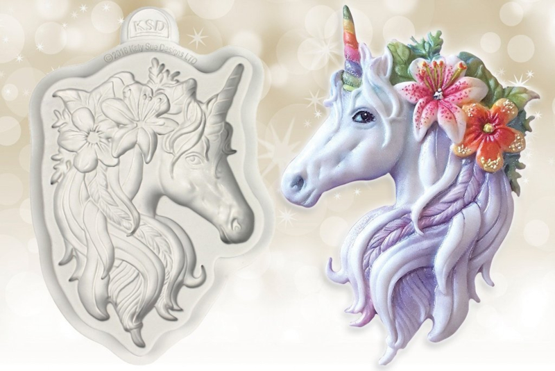 Unicorn mould by Katy Sue