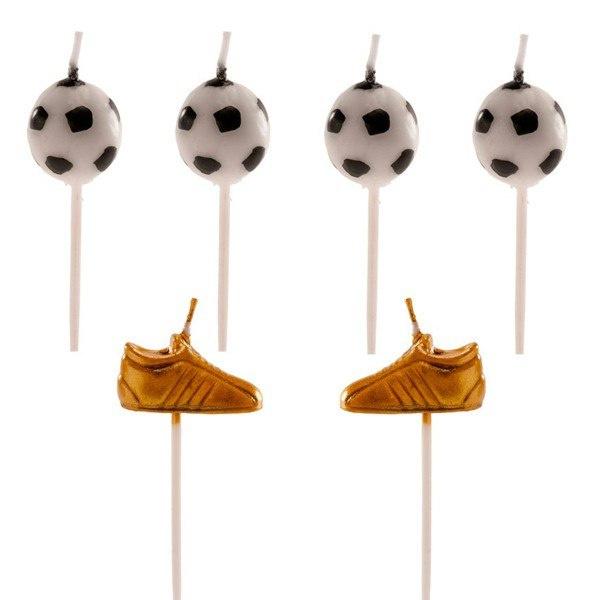 Fussball 3D kerze - 6 st
