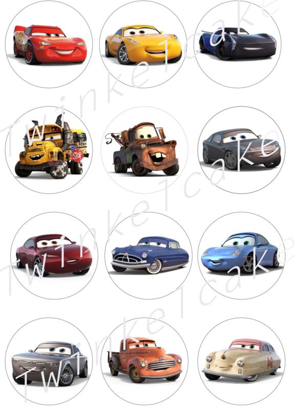 Imrimé comestible cupcake cars 2
