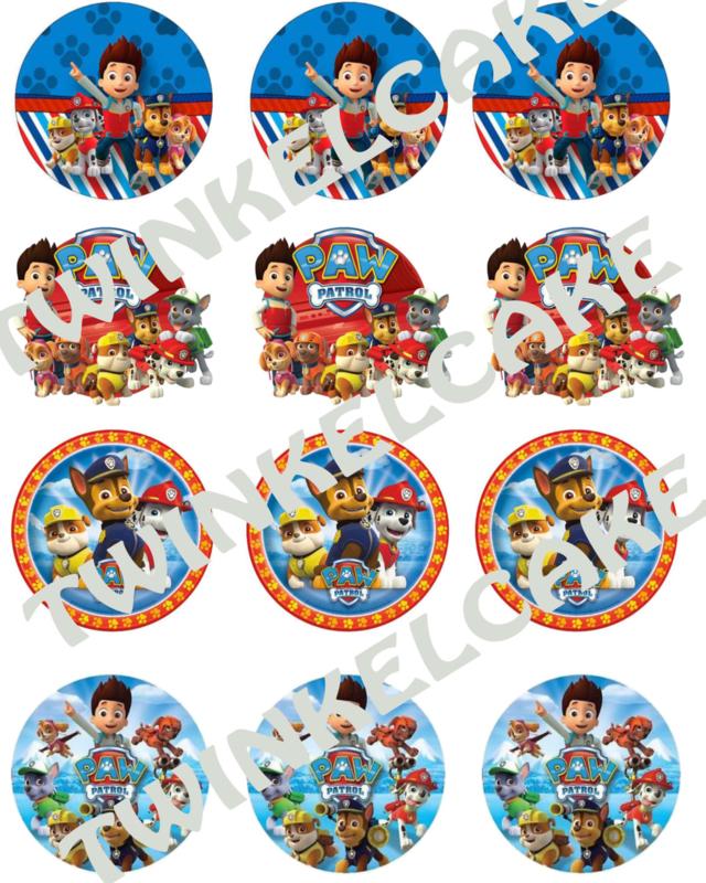 Paw Patrol Edible print cupcake2