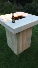 Bierkrattafel / statafel van steigerhout
