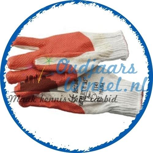 Latex handschoenen (oranje)