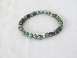 African turquoise natuursteen kralenarmband
