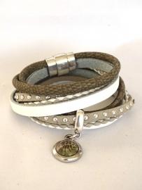 Luxe wikkelarmband met cabochon