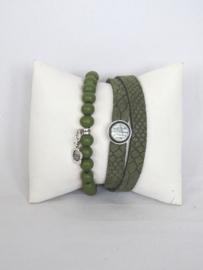 Armband van houten kralen