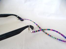 Zonnebril koordje van dun suede koord met strass-steentjes (in vele kleuren)