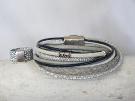 Wikkelarmband met handige, stevige magneetsluiting