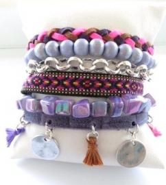 Armband Hipanema stijl paars