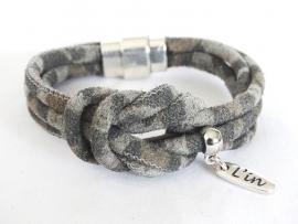 Dubbele knoop armband