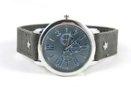 Groot donker grijs ster horloge