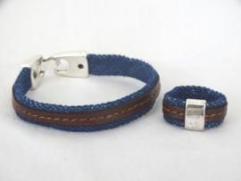 Unisex armband (met eventueel ring, apart te bestellen)