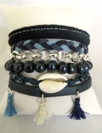 Armband Hipanema stijl donkerblauw