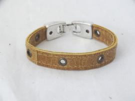 Stoere unisex armband met nestelringetjes