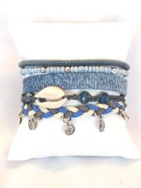 Hipanema armband jeansblauw