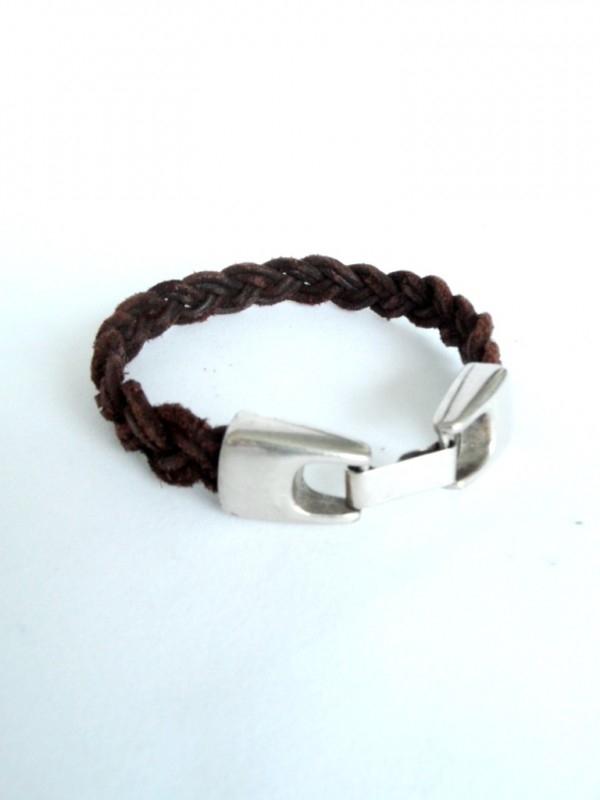 Gevlochten armband met haak-klikslot