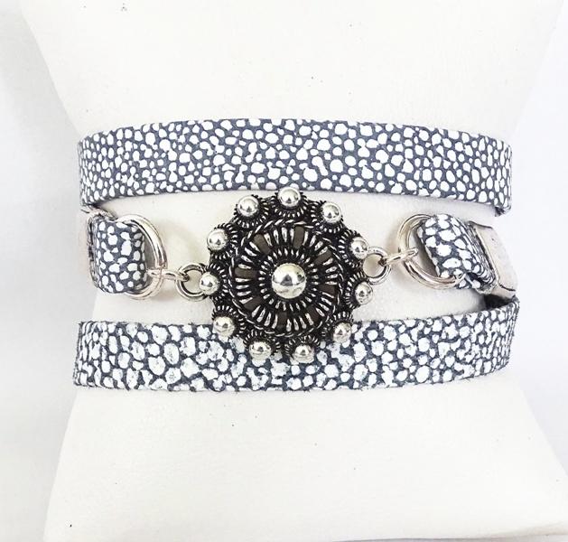 Stoere armband met grote Zeeuwse knoop