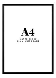 Fotolijst + foto: Aluminium zwart  frame