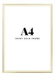 Fotolijst + foto: Aluminium gouden frame