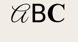 Voorbeelden lettertypen
