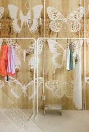Butterflies on wood