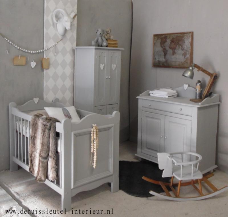 Landelijke babykamer Lichtgrijs