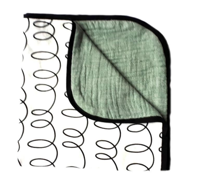 Couveuse deken GREEN CURLS