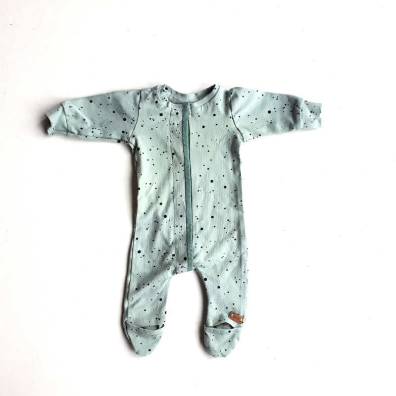 Babypakje DOTS GREEN maat 44