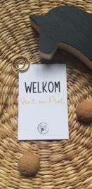 Cadeaukaartje Welkom Sint & Piet
