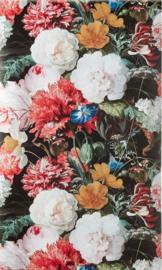 9. Bloemen behang rood zwart
