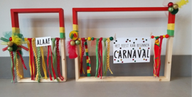 Carnavals workshop houten frames