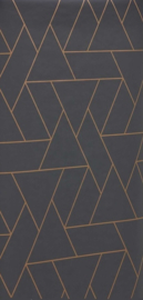 14. Zwart brons motief behang