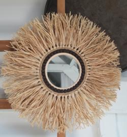 DIY raffiahanger spiegel