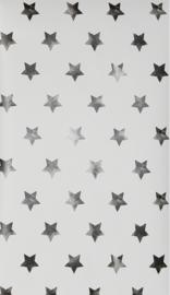3. Zwart wit sterren behang