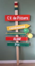 DIY pakket Carnavals wegwijzer met lat (alleen afhalen in Puth)
