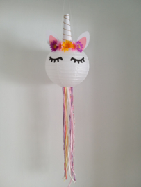 DIY kids pakket Unicorn lamp roze