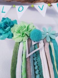 DIY kids pakket bloemenkrans groen