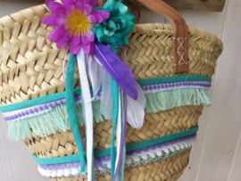 Mini Ibiza tas pimpen pakket paars turquoise