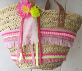 Mini Ibiza tas pimpen pakket neongeel roze
