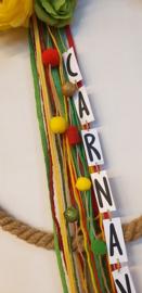 DIY Carnavals krans touw