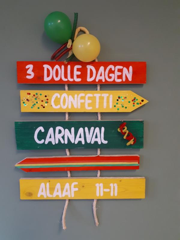DIY pakket Carnavals wegwijzer met touw