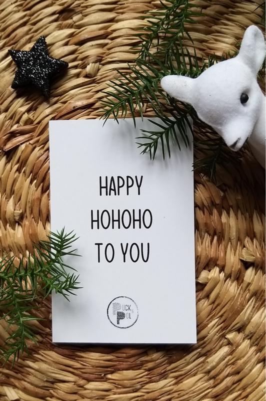 Cadeaukaartje Happy hohoho