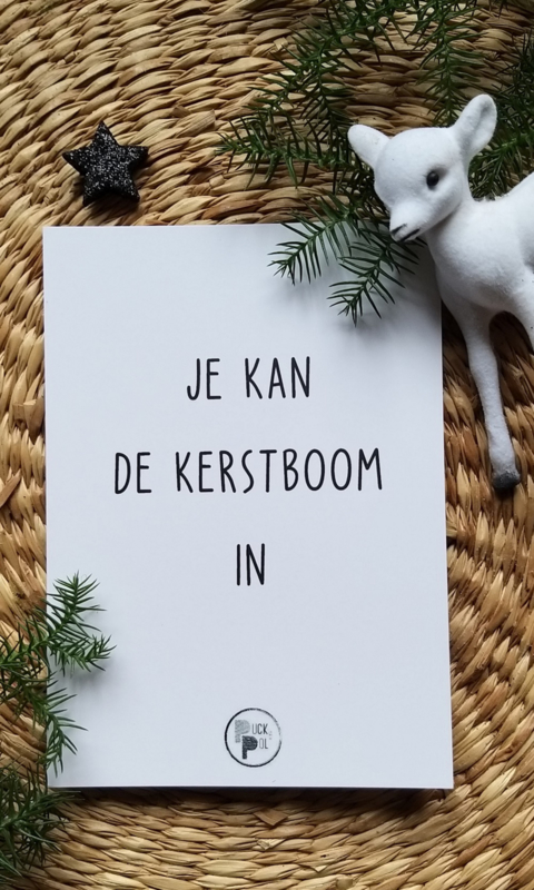 Kaart Je kan de Kerstboom in