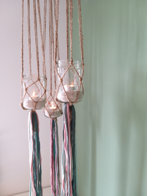 DIY set knoophangers touw (3 stuks)