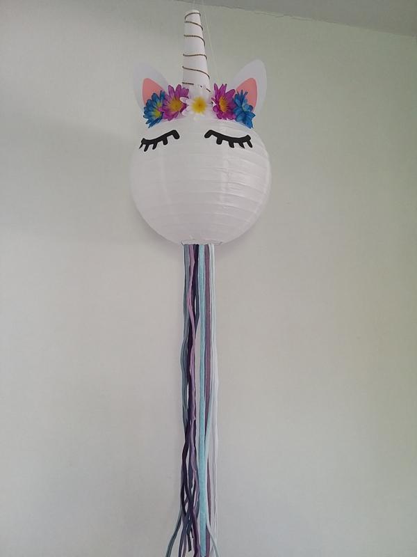 DIY kids pakket Unicorn lamp paars blauw