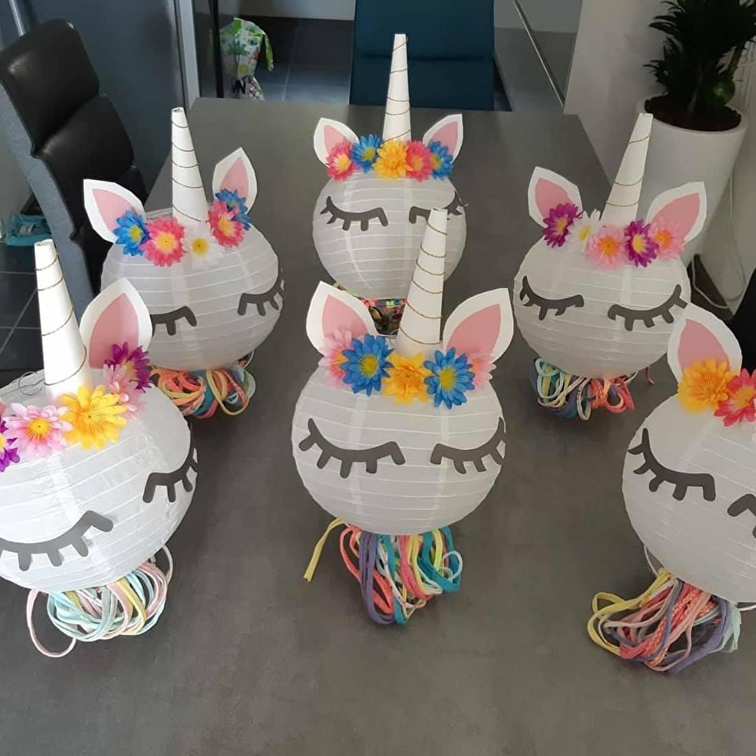 kinderfeestje unicorn lamp