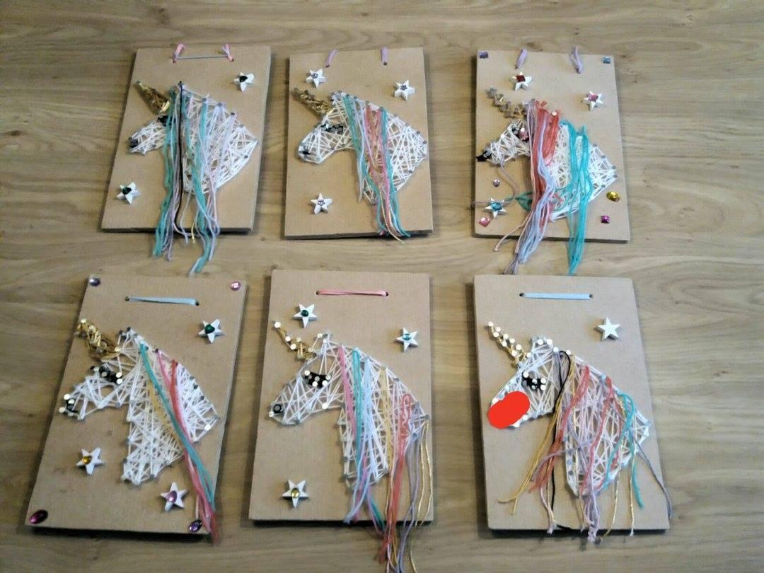 kinderfeestje unicorn spijkerschrift
