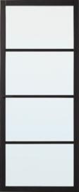 Skantrae SlimSeries Zwarte Binnendeur SSL 4004 Nevelglas