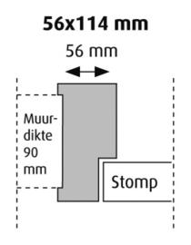 Stomp 56x114 hardhout kozijn