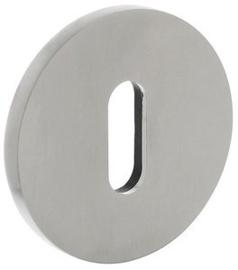 Olivari rozet rond met sleutelgat RVS mat titaan PVD